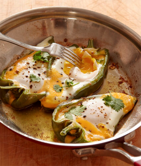 Jacques Pepin - Eggs in Pepper Boats