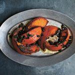 Gjelina - Grilled Kabocha Squash w Mint-Pomegranate Pesto