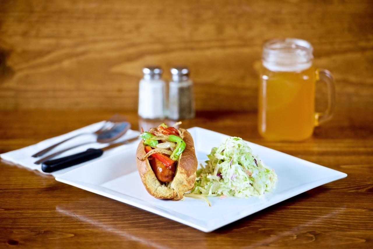 Georgia's - Hot Link Sandwich w side of Cole Slaw