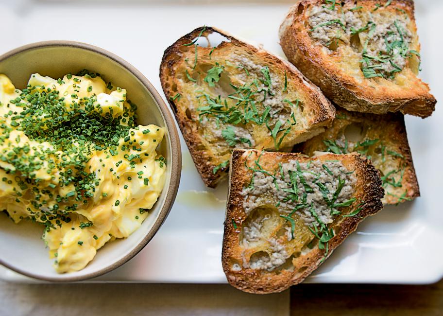 Dress up your egg salad with bagna cauda