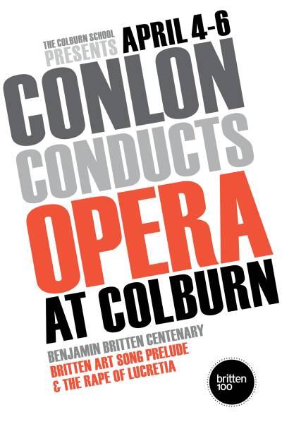 Conlon Conducts Opera at ColburnZipper Hall, The Colburn School2013