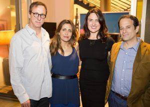 Tim and Neda Disney, Madeleine Brand, and Joe DeMarie