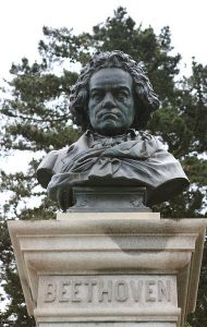 Statue of Beethoven in Golden Gate Park, SF. Photo by Cliff (CC BY 2.0), via Flickr
