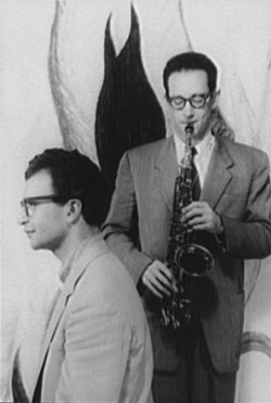 Dave Brubeck and Paul Desmond. Photo by Carl Van Vechten from the Van Vechten Collection at the Library of Congress