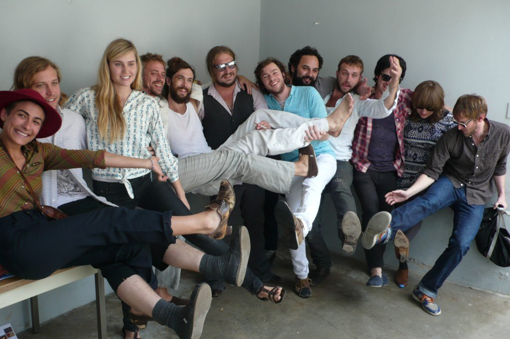 Edward Sharpe and the Magnetic Zeros Outside KCRW's Studios