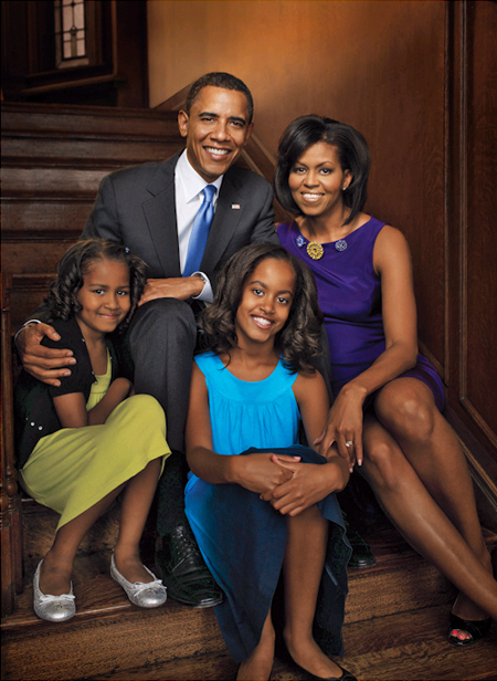 Barack obama and michelle obama kids