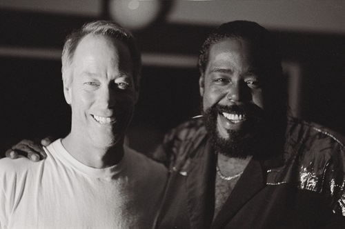 Tom Schnabel and Barry White by Steve Laufer