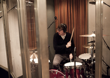 Patrick in the drum booth SM