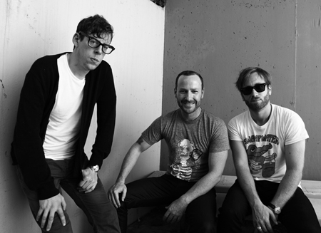 Black Keys with KCRW Music Director Jason Bentley by Larry Hirshowitz