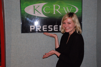 Kirsten and KCRW logo copy