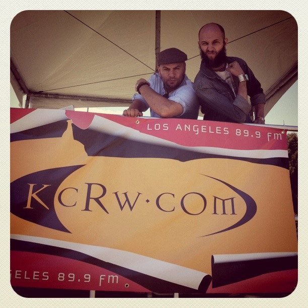AV and JS with KCRW banner