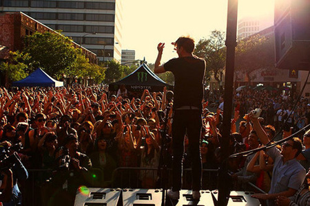 Matt and Kim at Make Music Pasadena last year