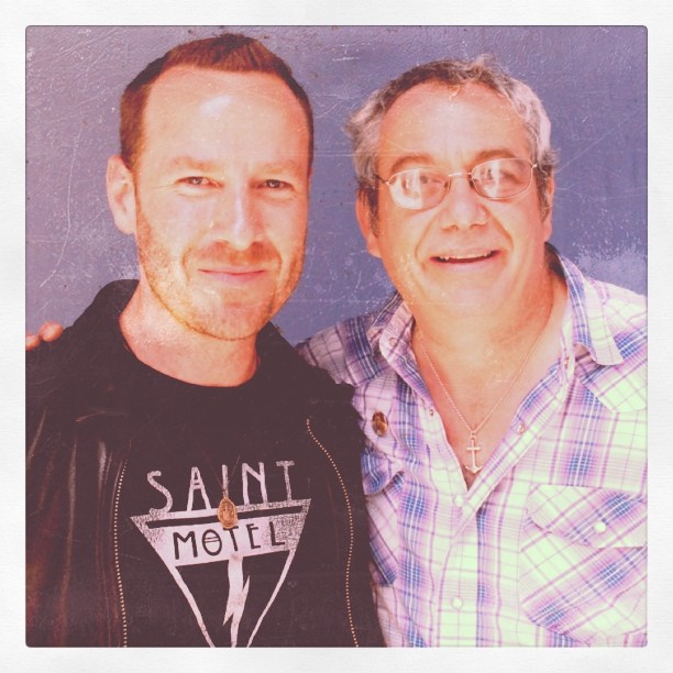 KCRW Music Director Jason Bentley with Mike Watt