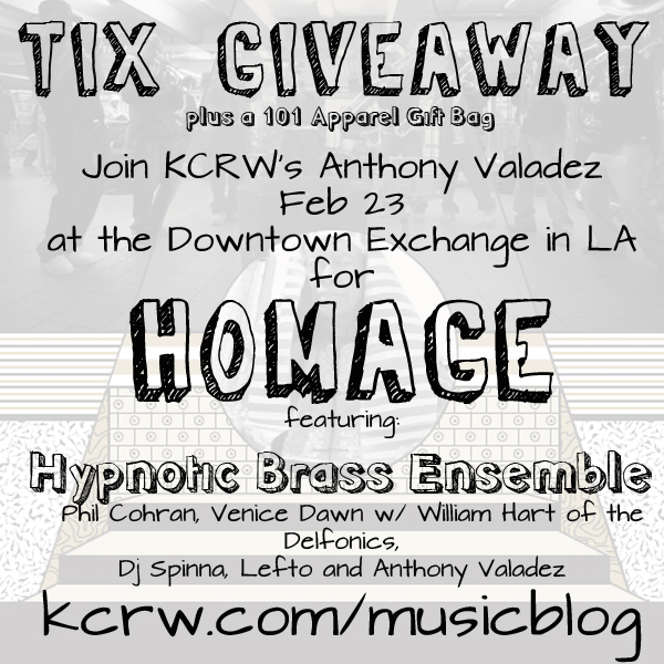 KCRW Tix Giveaway Homage Hypnotic Brass Ensemble
