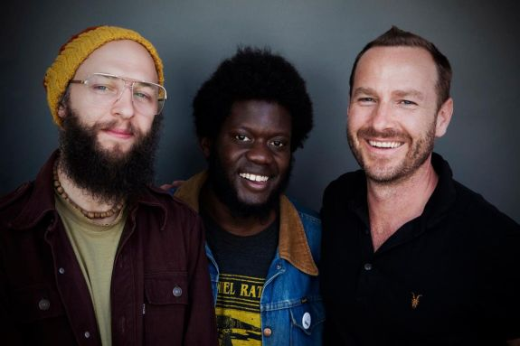 DJ Jeremy Sole, Michael Kiwanuka, Jason Bentley - by Larry Hirshowitz