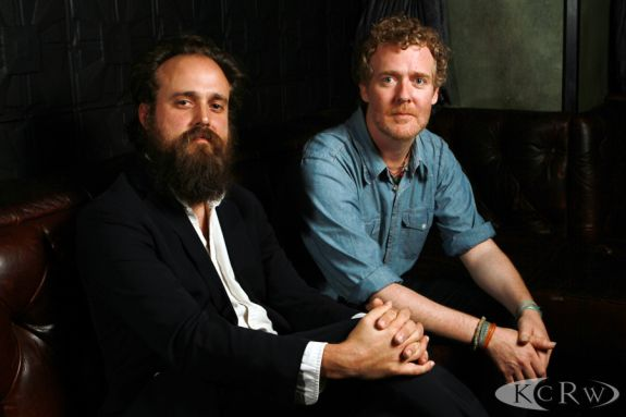 Sam Beam and Glen Hansard by Jeremiah Garcia at The Sayers Club