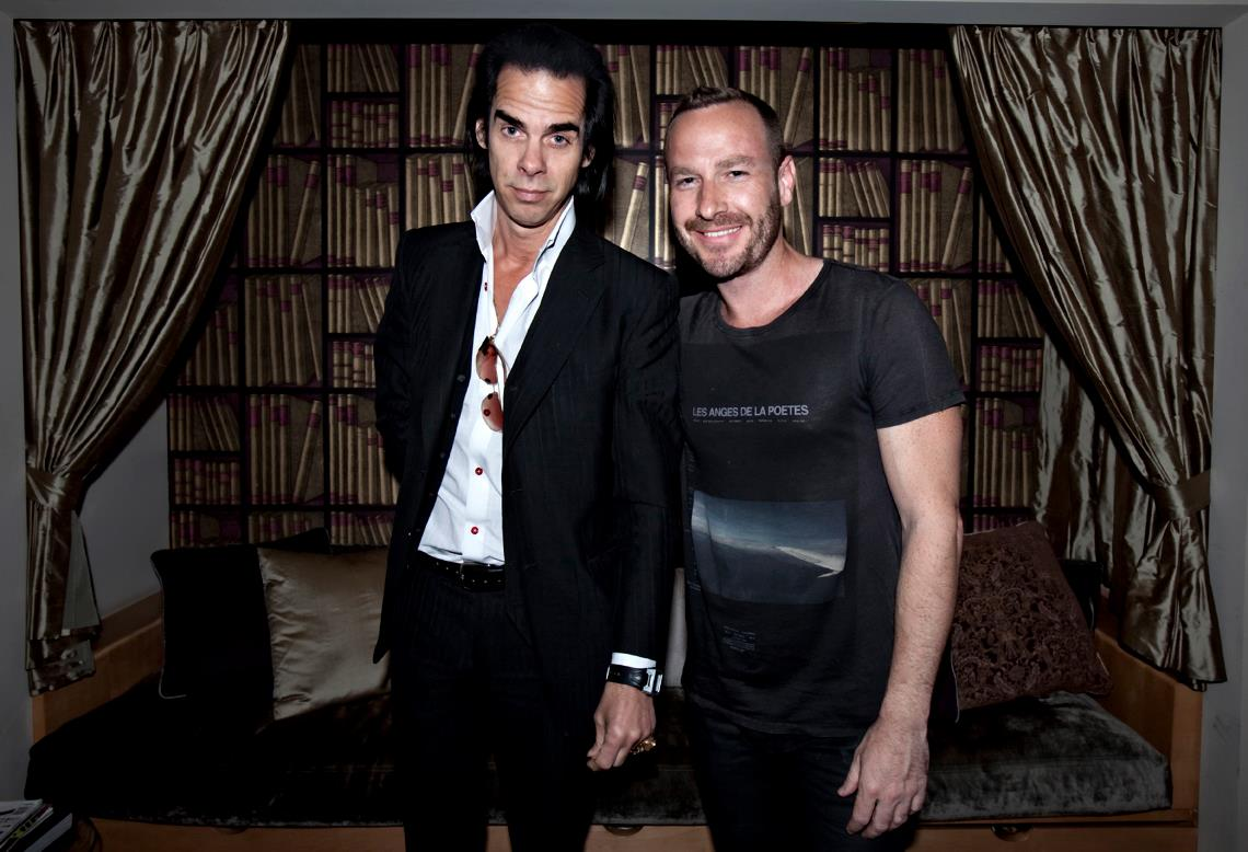 Nick Cave and Jason Bentley by Larry Hirshowitz