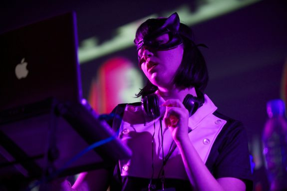 DJ Marion Hodges by Gary Leonard