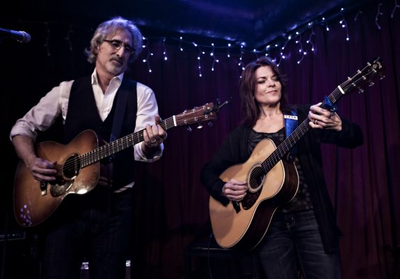 Rosanne Cash and John Leventhal by Larry Hirshowitz