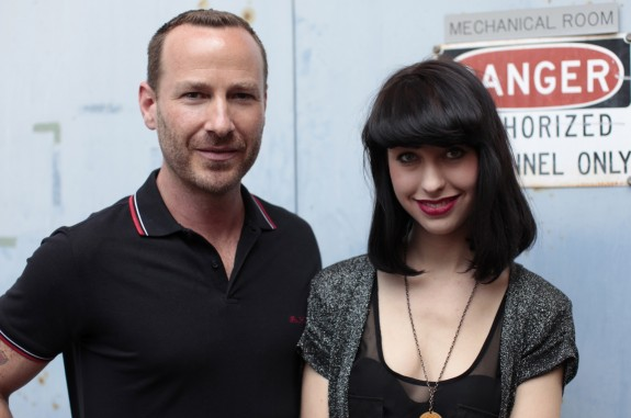 Jason and Kimbra outside KCRW by Larry Hirshowitz