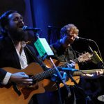 Sam Beam and  Glen Hansard by Jeremiah Garcia