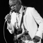 Pops Staples at the Petrillo Band Shell for the Chicago Blues Festival on June 8, 1986 in Chicago, Illinois.