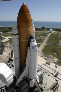 Space Shuttle Endeavour on launch pad 39A prior to mission STS-127, 31 May 2009