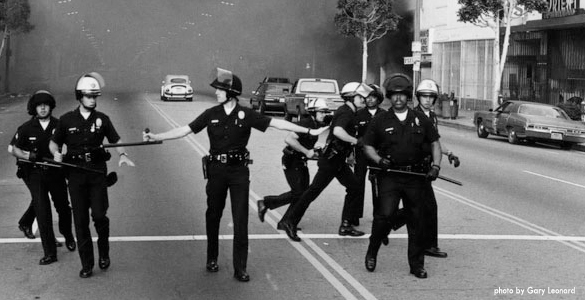 Looking Back at the LA Riots, photo from Which Way LA?, http://blogs.kcrw.com/whichwayla/category/la-riots/