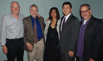 Warren Olney, Raphael Sonenshein, Erin Aubry Kaplan, Bonghwan and Rubén Martínez