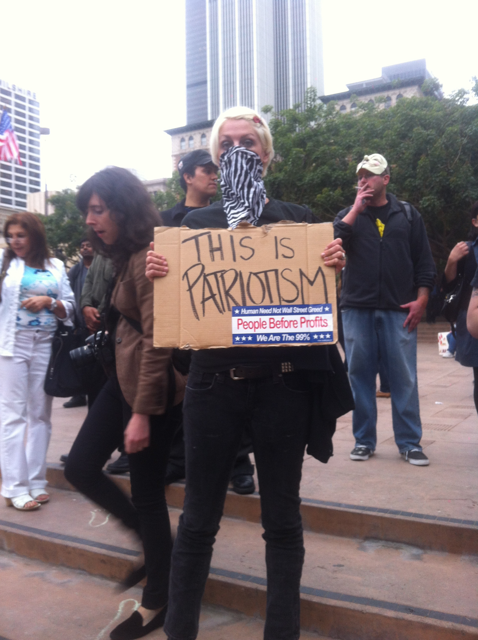 Haley Callis, Occupy LA protester. Photo by Alexandra Woodruff.