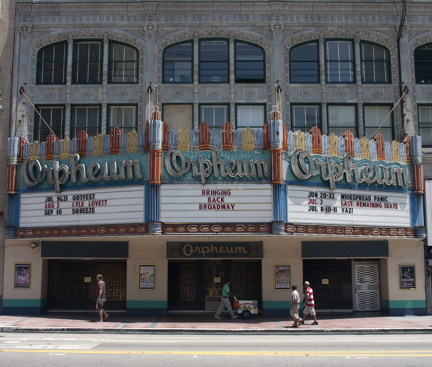 842 South Broadway, Los Angeles The Orpheum Theater and the downtown neighborhood around it were the sites of the Zoot Suit Riots, on-going street brawls that pitted Mexican American youth against military personnel and white civilians in May and June of 1943