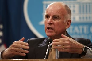 Governor Jerry Brown, explaining his revised budget for California. Photo by Andrew Nixon.