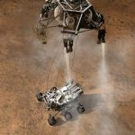 An artist rendering of Curiosity