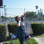 Angela will be competing in both the shot put and javelin competitions in the 2012 Paralympic Games in London.