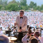 Marvin Hamlisch, conducting the Pasadena Pops.