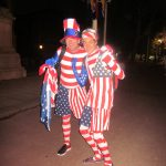 US fans pose at the Olympics. Photo by Gemma Dempsey