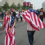 US fans in Olympic Park