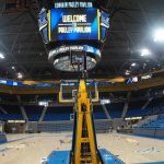 The view from the floor. Along with basketball, Pauley will also be home to UCLA's volleyball and gymnastic competitions as before. It will also host concerts, rallies and campus special events.