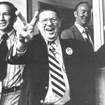 Howard Jarvis celebrates passage of Prop 13 in 1978