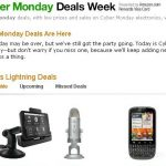 Screen shot from Amazon. Where are you shopping for Cyber Monday?
