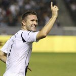 Robbie Keane celebrates one of his goals. Photo: http://www.lagalaxy.com