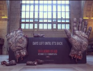 """Walking Dead"" Advertisement In Toronto's Union Station"