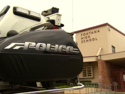 Fontana High School/Photo by CBS News