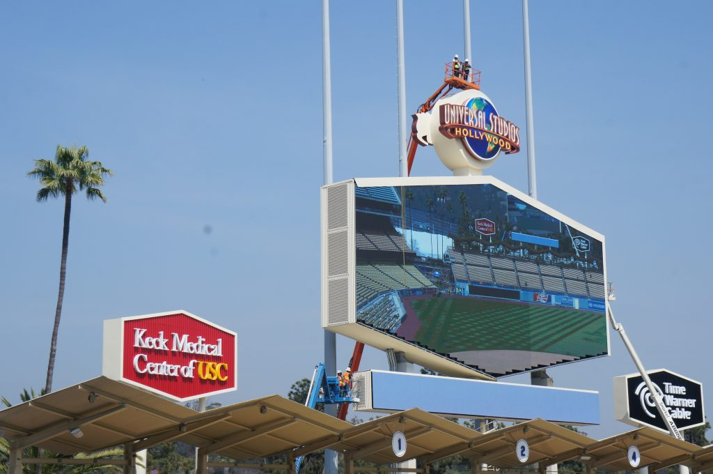 There's also much new technology at the renovated Dodger Stadium. That includes new and larger high-definition video boards, a better sound system and beefed up cellphone and Wi-Fi service.