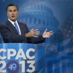 2012 Republican presidential candidate Mitt Romney speaks at CPAC 2013