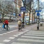 Rotterdam Bike Lane with protective buffer