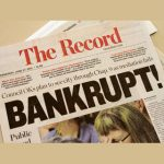 A local newspaper headline announces bankruptcy in Stockton, California June 27, 2012. Photo by Kevin Bartram/Reuters