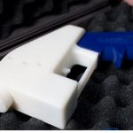 A photo of the 3D gun printed by Texas-based Defense Distributed.