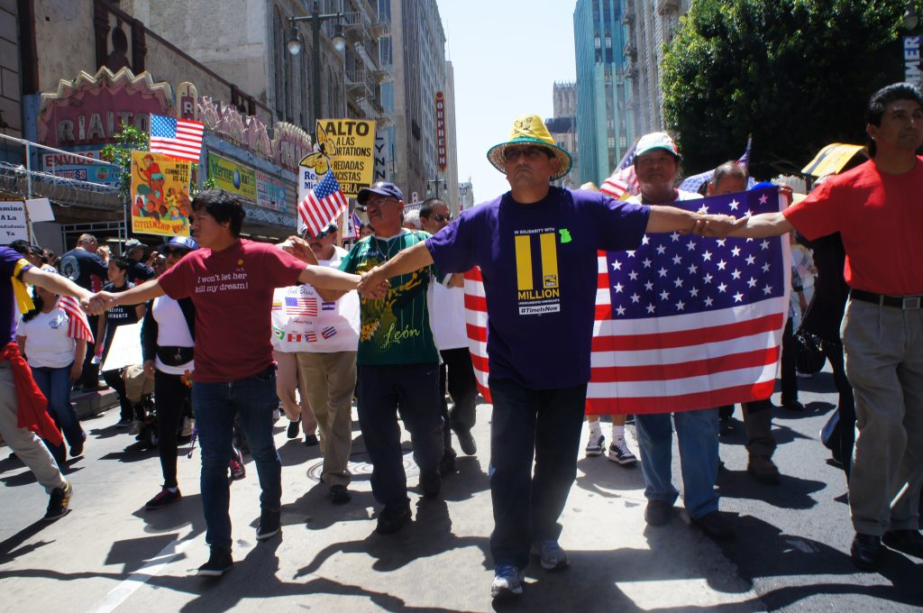 Although thousands turned out for the May Day march, it wasn't nearly as big as a historic pro-immigration reform march held in downtown L.A. in 2006.