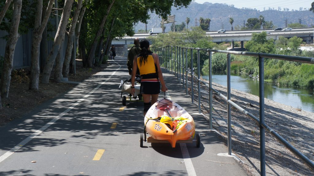 People who don't have their own boats will be able rent watercraft from private operators. There will also be organized paddles of the L.A. River, with experts talking about its history and the abundance of plant and wildlife to be found along this stretch of the waterway. (Photo by Raphael Gonzalez)